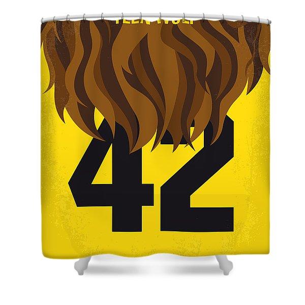 No607 My Teen Wolf Minimal Movie Poster Shower Curtain