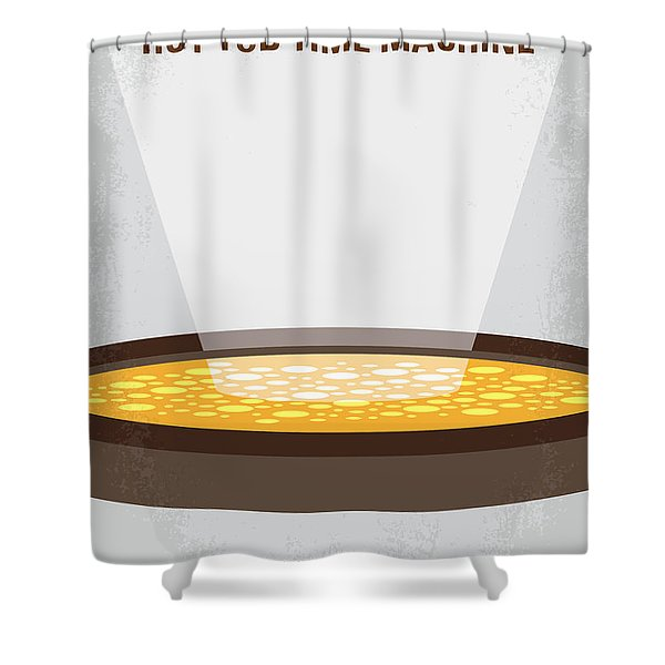 No612 My Hot Tub Time Machine Minimal Movie Poster Shower Curtain