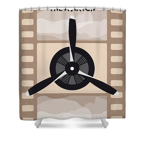 No618 My The Aviator Minimal Movie Poster Shower Curtain
