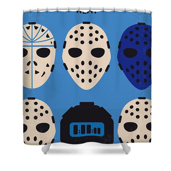 No621 My Heat Minimal Movie Poster Shower Curtain