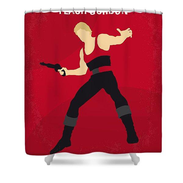 No632 My Flash Gordon Minimal Movie Poster Shower Curtain