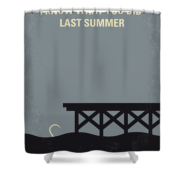 No650 My I Know What You Did Last Summer Minimal Movie Poster Shower Curtain