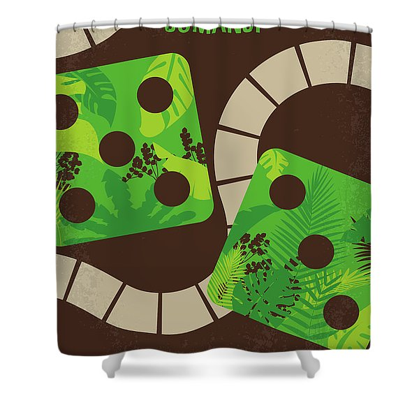 No653 My Jumanji Minimal Movie Poster Shower Curtain