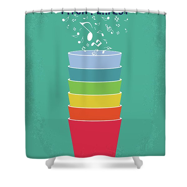 No660 My Pitch Perfect Minimal Movie Poster Shower Curtain