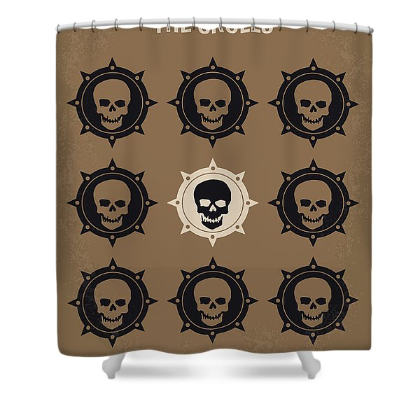 No662 My The Skulls Minimal Movie Poster Shower Curtain