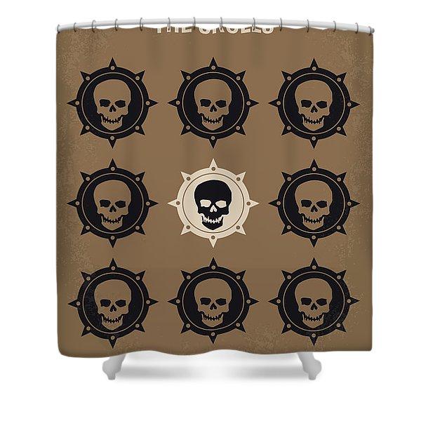 No662 My The Skulls Minimal Movie Poster Shower Curtain