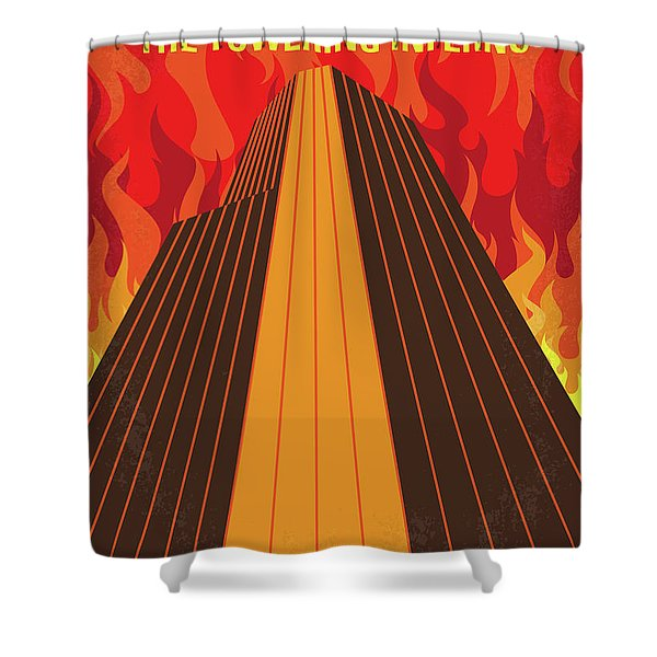 No665 My The Towering Inferno Minimal Movie Poster Shower Curtain