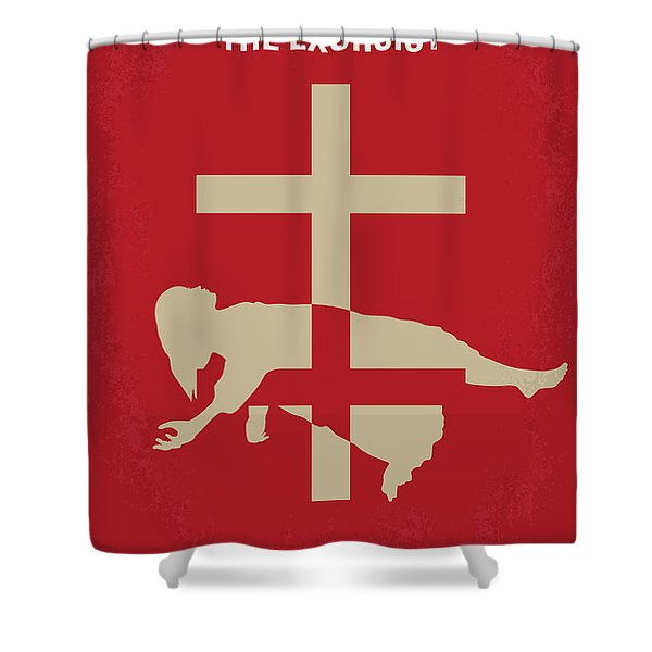 No666 My The Exorcist Minimal Movie Poster Shower Curtain