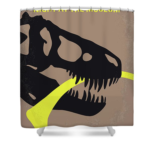 No672 My Night At The Museum Minimal Movie Poster Shower Curtain