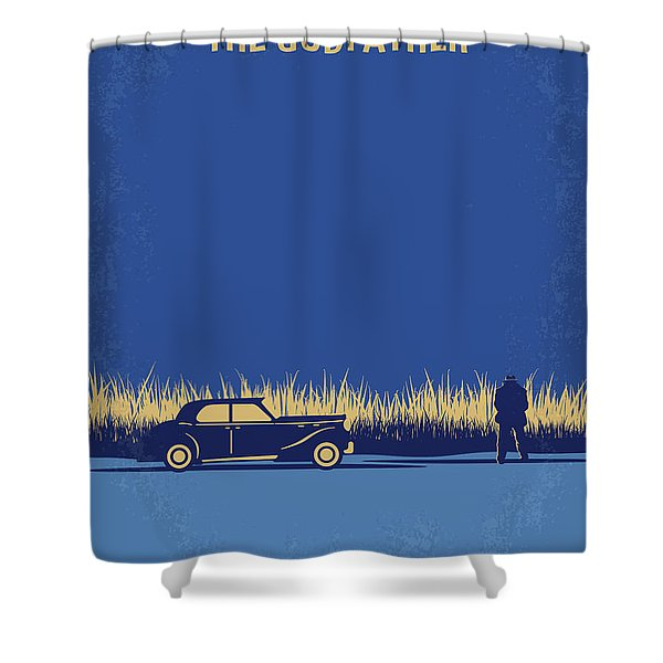 No686-1 My Godfather I Minimal Movie Poster Shower Curtain