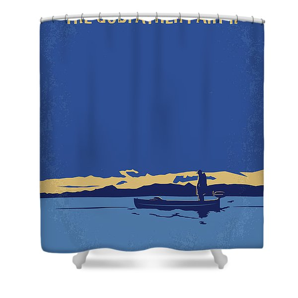 No686-2 My Godfather II Minimal Movie Poster Shower Curtain