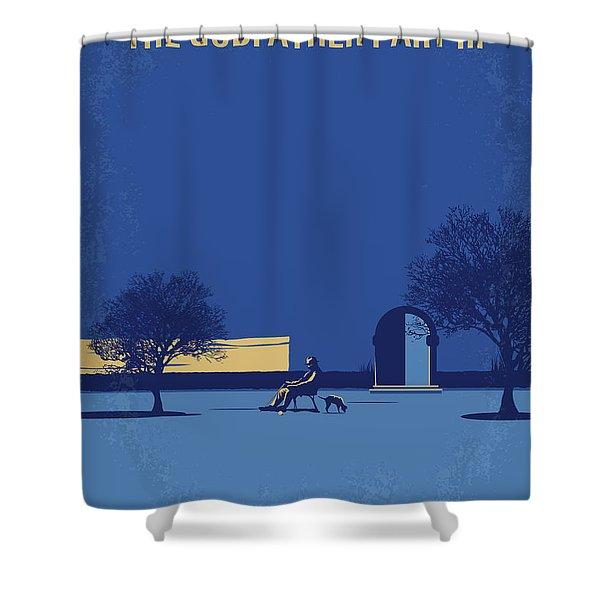 No686-3 My Godfather IIi Minimal Movie Poster Shower Curtain