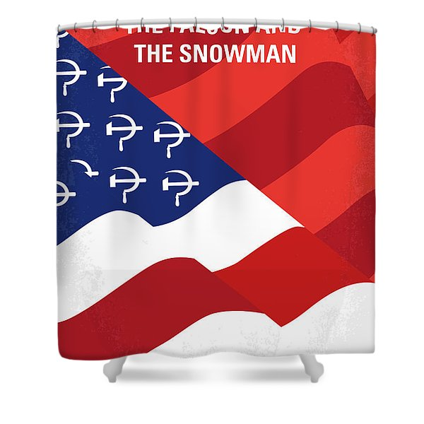 No749 My The Falcon And The Snowman Minimal Movie Poster Shower Curtain