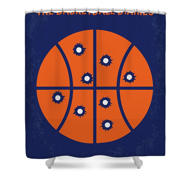No782 My The Basketball Diaries Minimal Movie Poster Shower Curtain