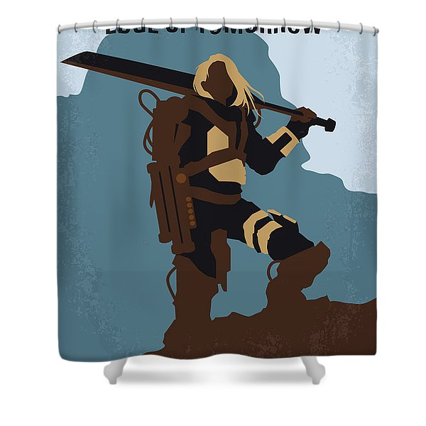 No790 My Edge Of Tomorrow Minimal Movie Poster Shower Curtain