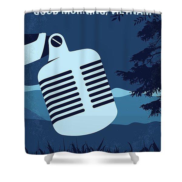 No811 My Good Morning Vietnam Minimal Movie Poster Shower Curtain