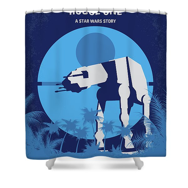 No819 My Rogue One Minimal Movie Poster Shower Curtain