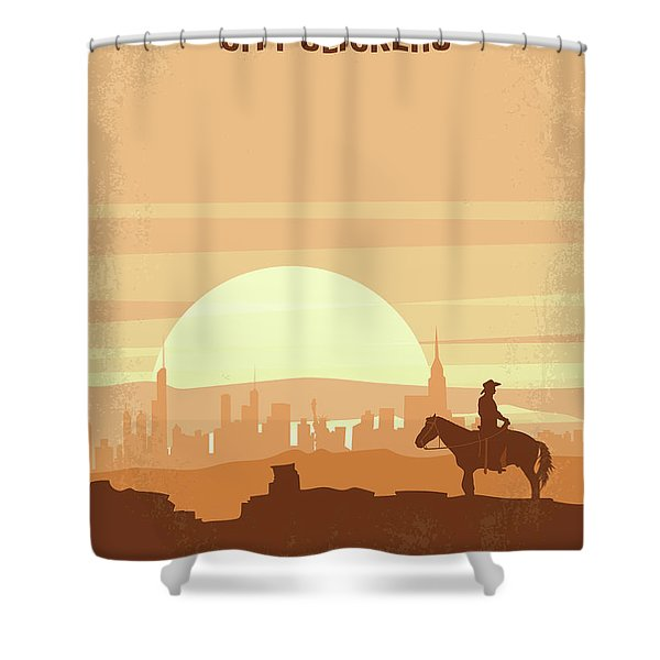 No821 My City Slickers Minimal Movie Poster Shower Curtain