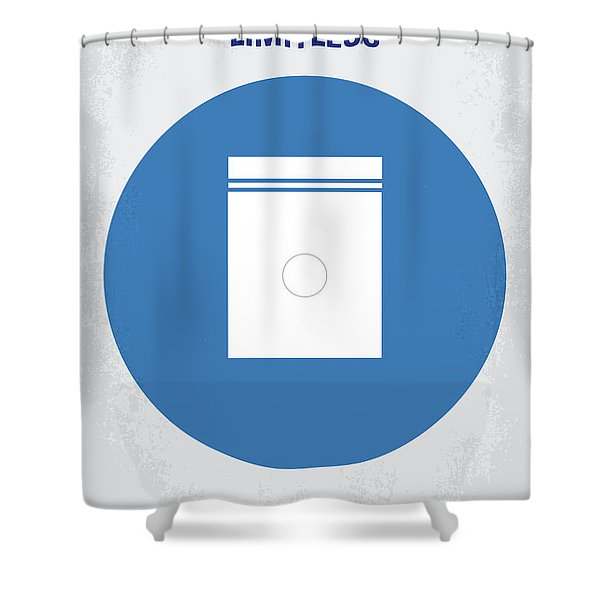 No828 My Limitless Minimal Movie Poster Shower Curtain