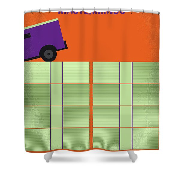 No851 My Masterminds Minimal Movie Poster Shower Curtain