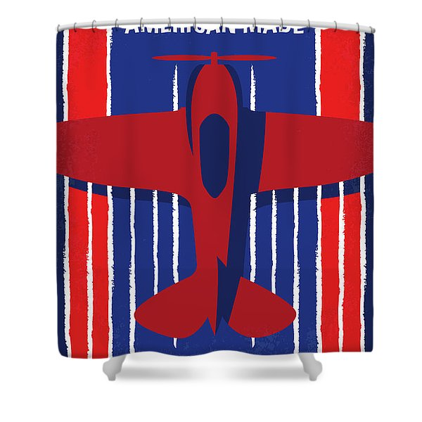 No869 My American Made Minimal Movie Poster Shower Curtain