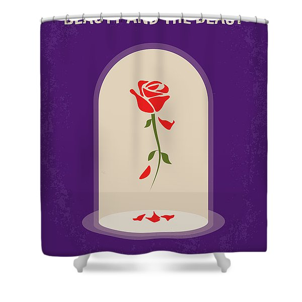 No878 My Beauty And The Beast Minimal Movie Poster Shower Curtain