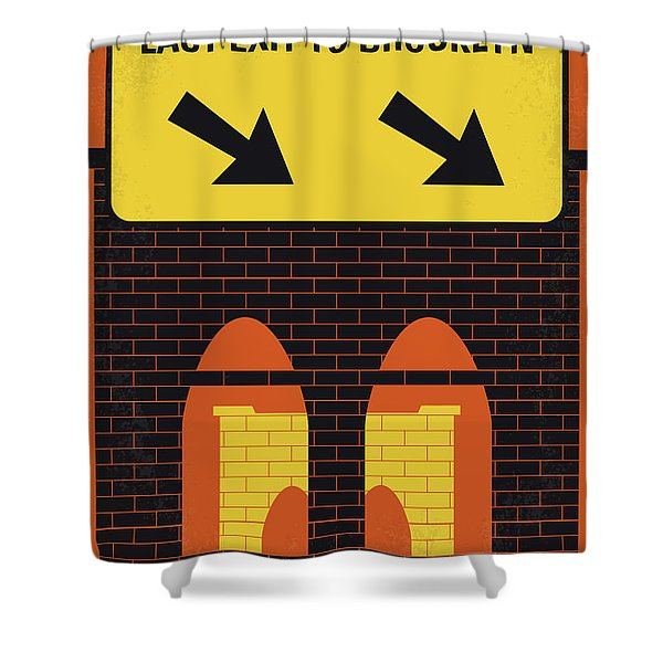 No879 My Last Exit To Brooklyn Minimal Movie Poster Shower Curtain