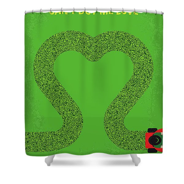 No894 My Cant Buy Me Love Minimal Movie Poster Shower Curtain