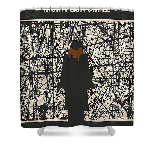 No914 My Mona Lisa Smile Minimal Movie Poster Shower Curtain