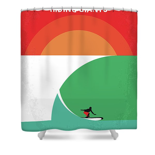 No915 My Riding Giants Minimal Movie Poster Shower Curtain