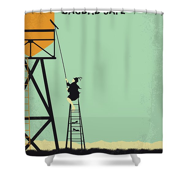 No964 My Bagdad Cafe Minimal Movie Poster Shower Curtain