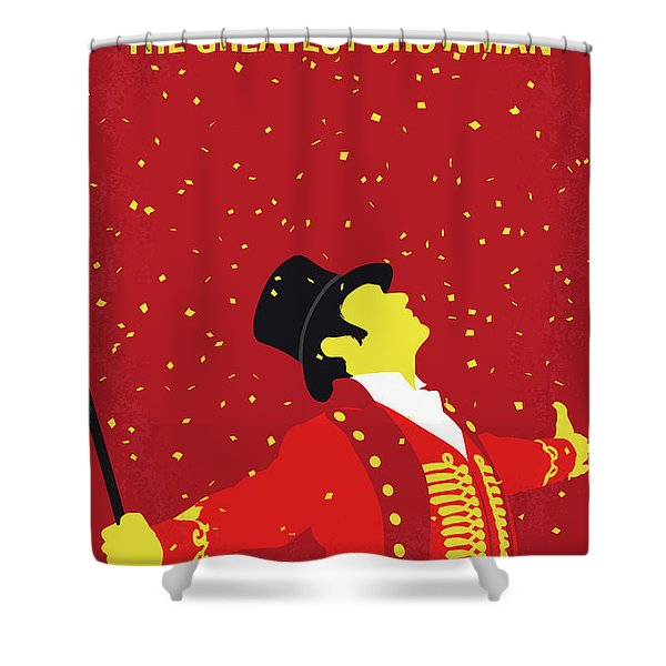 No965 My The Greatest Showman Minimal Movie Poster Shower Curtain