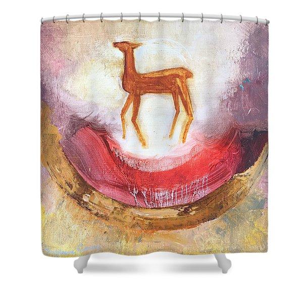 Noble Deer Shower Curtain