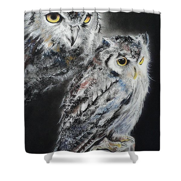 Noble Owl Guardian Of The Afterlife Shower Curtain