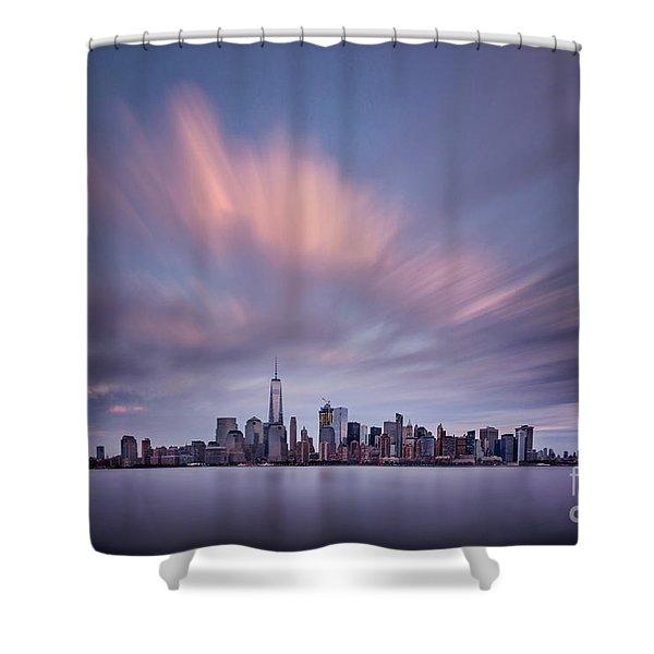 Nocturnal Pursuit Shower Curtain