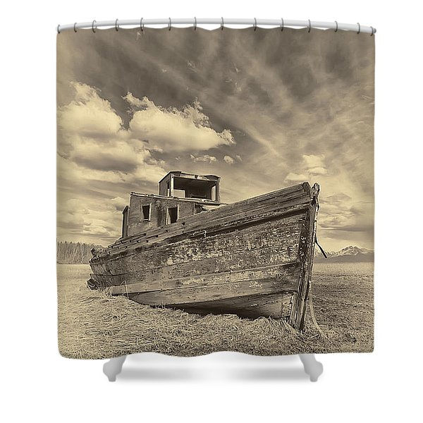 Nomad Sepia Shower Curtain
