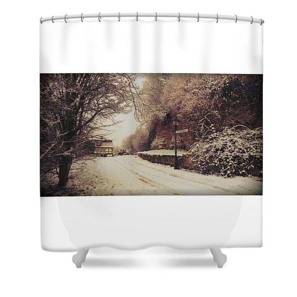 #nordhausen #snow #somedaysago #trees Shower Curtain