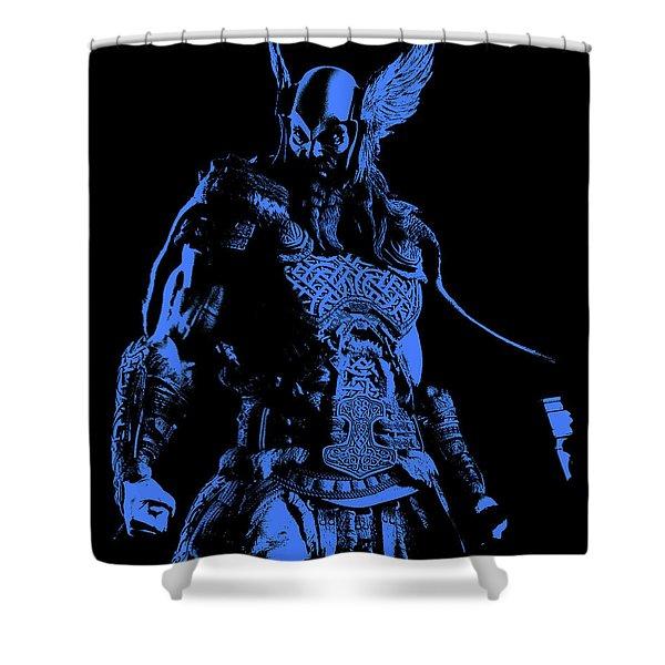 Nordic Warrior Shower Curtain