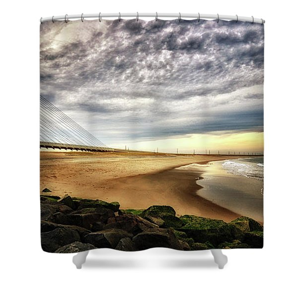 North Beach At Indian River Inlet Shower Curtain