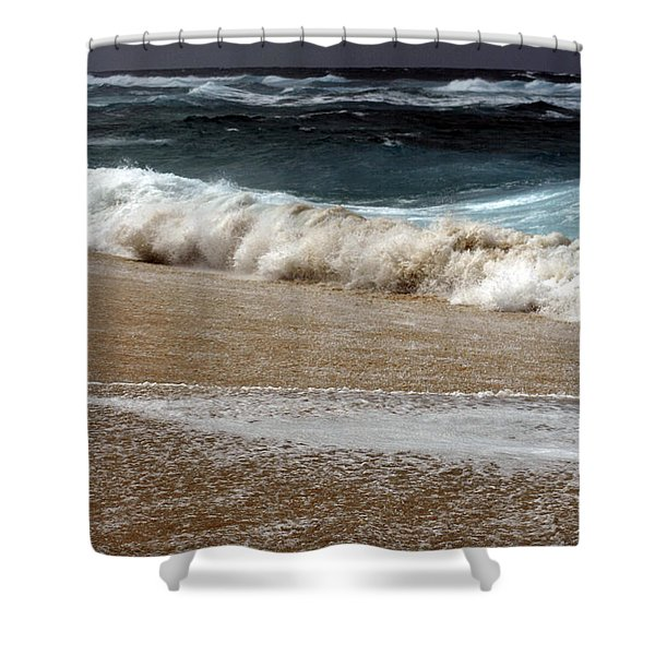 North Beach, Oahu V Shower Curtain