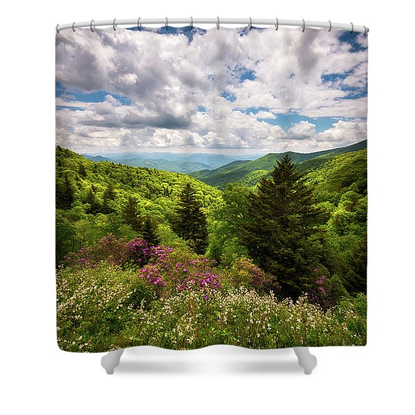 North Carolina Blue Ridge Parkway Scenic Landscape Nc Appalachian Mountains Shower Curtain