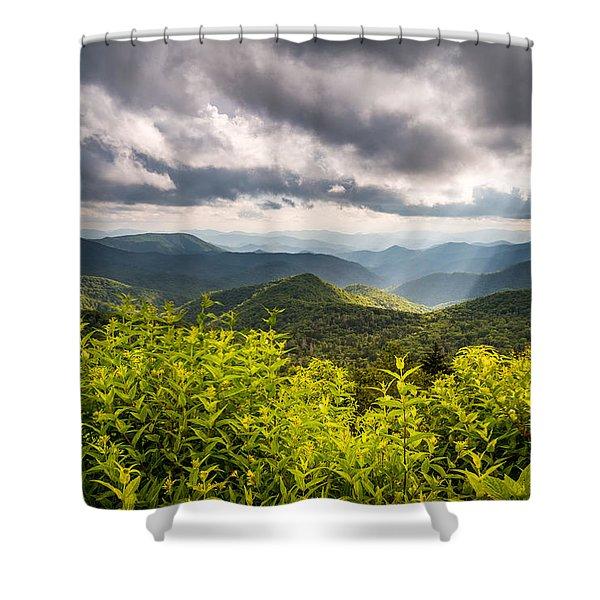 North Carolina Blue Ridge Parkway Scenic Landscape Photography Asheville Nc Shower Curtain