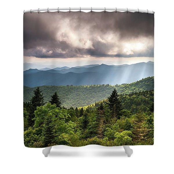 North Carolina Blue Ridge Parkway Scenic Mountain Landscape Shower Curtain