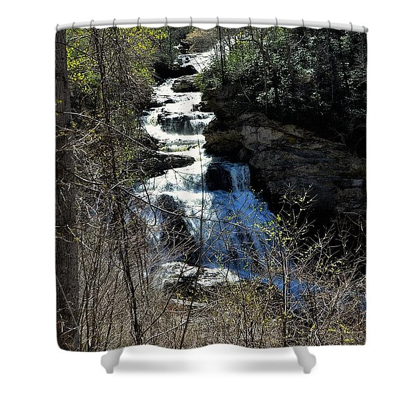 North Carolina Falls Shower Curtain