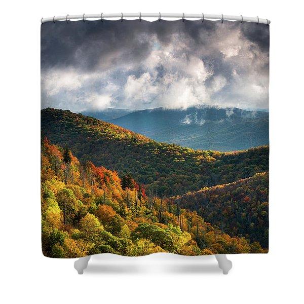 North Carolina Mountains Asheville Nc Autumn Sunrise Shower Curtain