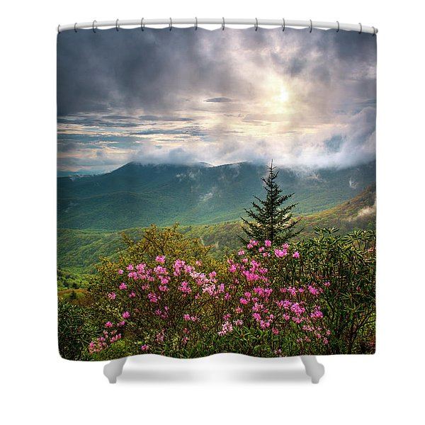 North Carolina Spring Flowers Blue Ridge Parkway Scenic Landscape Asheville Nc Shower Curtain