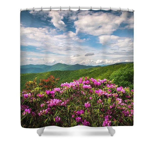 North Carolina Spring Flowers Mountain Landscape Blue Ridge Parkway Asheville Nc Shower Curtain