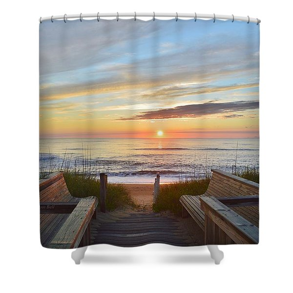 North Carolina Sunrise Shower Curtain