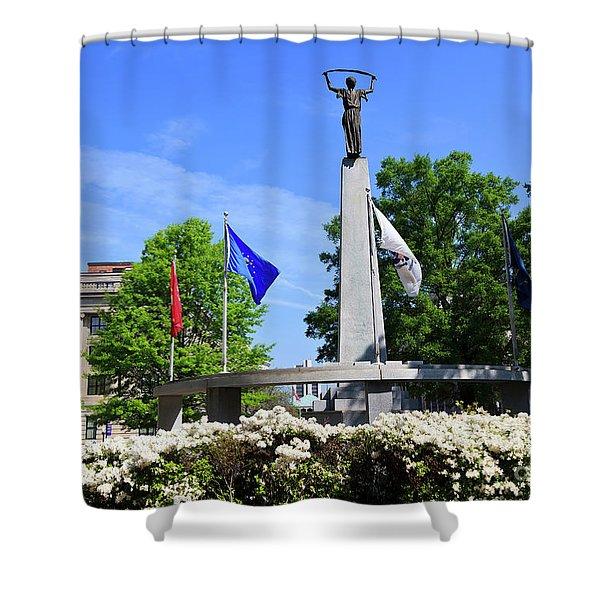 North Carolina Veterans Monument Shower Curtain