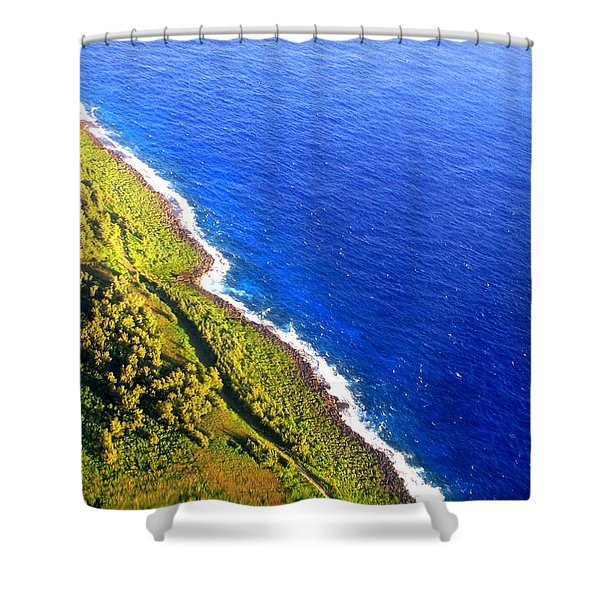 North Coast Of Tinian At Sunrise Shower Curtain
